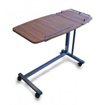 Table de lit avec tablette lat rale noyer d 39 avignon for Lit et table de chevet