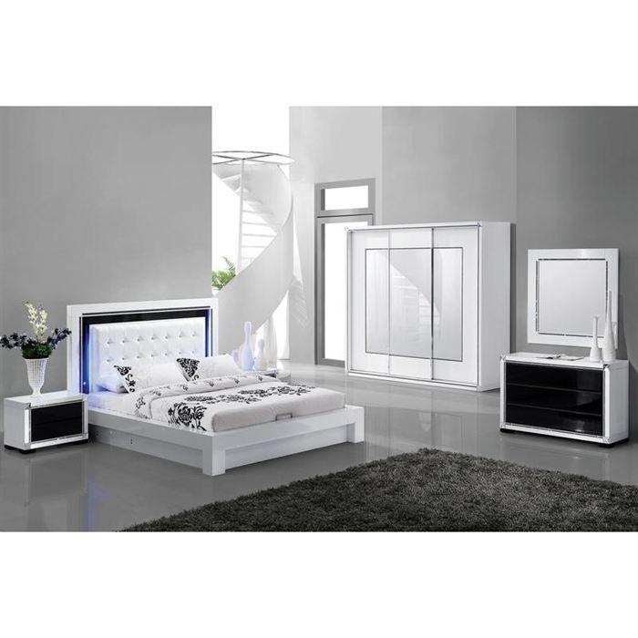 structure de lit design avec tete de lit achat vente. Black Bedroom Furniture Sets. Home Design Ideas