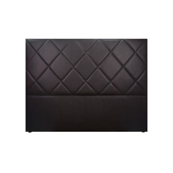 t te de lit design sally noir 160 x 120 achat vente t te de lit cdiscount. Black Bedroom Furniture Sets. Home Design Ideas