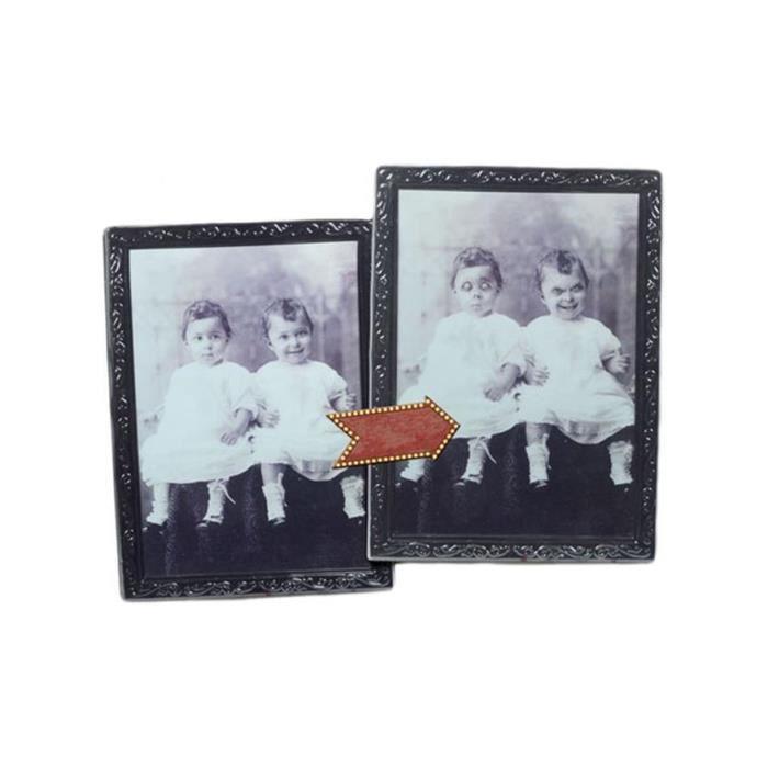 grand portrait de famille ancien horreur halloween horreur achat vente cadre photo plastique. Black Bedroom Furniture Sets. Home Design Ideas