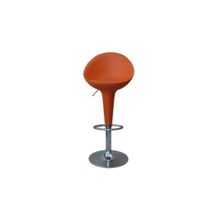 justhome tabouret de bar hc 169l couleur orange achat vente tabouret de. Black Bedroom Furniture Sets. Home Design Ideas