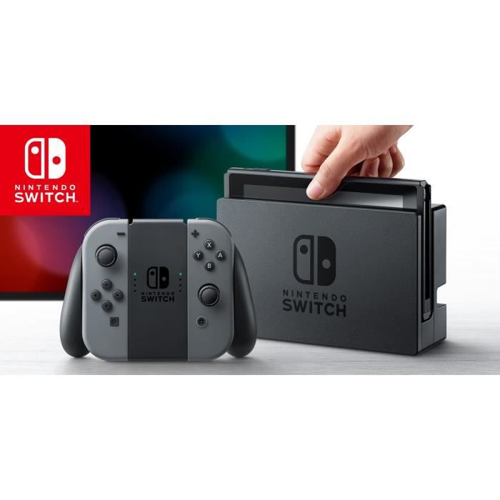 SORTIE CONSOLE NINTENDO SWITCH NINTENDO SWITCH GREY JOY CON - UK VERSION