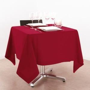 Nappe carr 150x150cm rouge achat vente nappe de - Nappe de table carre ...