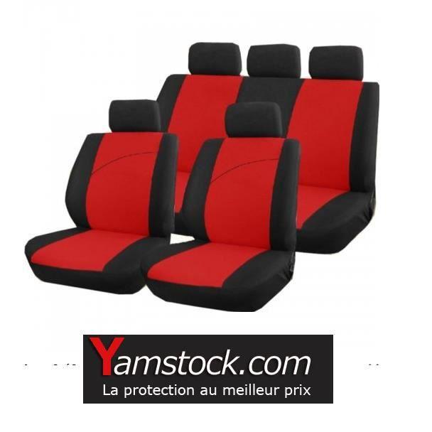 housse si ge de voiture rouge et noir achat vente. Black Bedroom Furniture Sets. Home Design Ideas