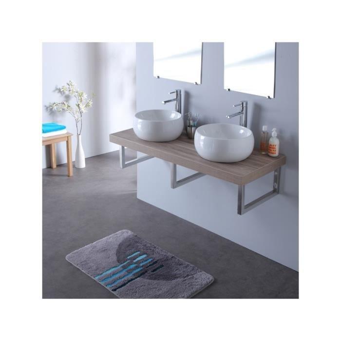 console double vasque mailla en 120 cm gris lam achat