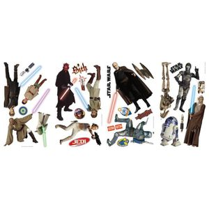 STICKERS STAR WARS Stickers Muraux Enfant 4 Planches Reposi