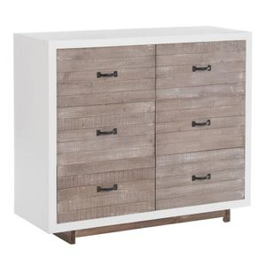 commode grise et blanche achat vente commode grise et blanche pas cher cdiscount. Black Bedroom Furniture Sets. Home Design Ideas
