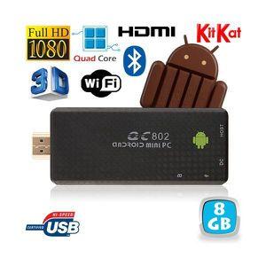 Mini PC Android Kitkat 4.4 Quad Core TV Box Full HD Bluetooth 8Go