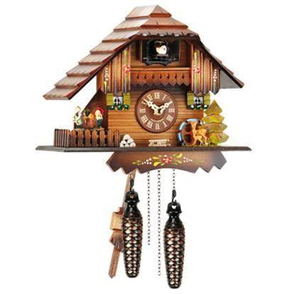 pendule coucou quartz ht 21 cm anime danseur achat vente horloge bois cdiscount. Black Bedroom Furniture Sets. Home Design Ideas