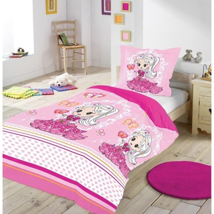housse de couette enfant 140x200 cm ma princesse achat vente parure de couette cdiscount. Black Bedroom Furniture Sets. Home Design Ideas