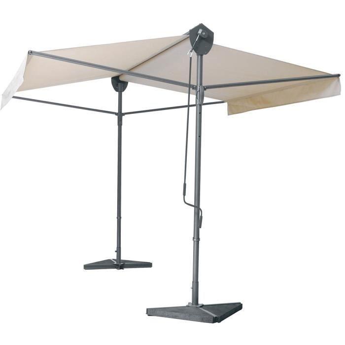 parasol double pente professionnel store de terrasse manuel montage store double pente sur. Black Bedroom Furniture Sets. Home Design Ideas