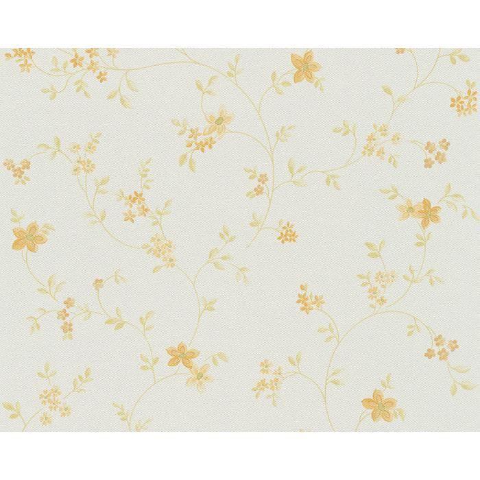 Papier peint intiss fleuri pastel 10 05 m x achat vente papier pei - Papier peint sans raccord ...