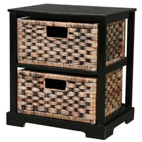 miami meuble de rangement 2 paniers marron achat. Black Bedroom Furniture Sets. Home Design Ideas