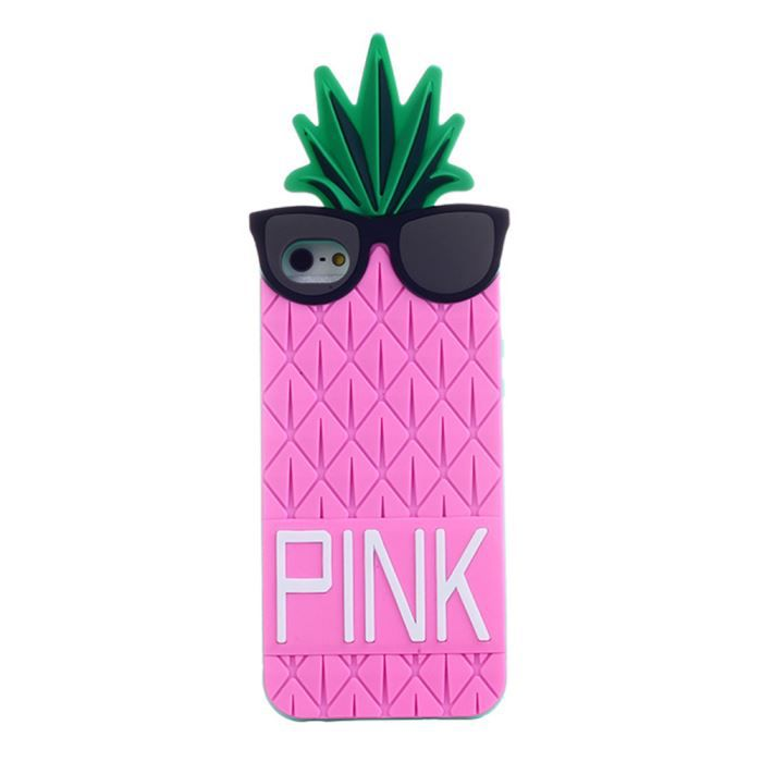 coque iphone 5 silicone 3d ananas