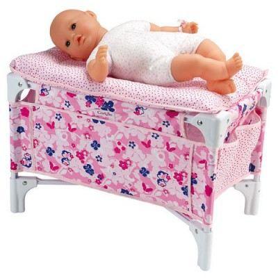 lit b b et table langer fleuri corolle achat vente accessoire poup e les soldes sur. Black Bedroom Furniture Sets. Home Design Ideas
