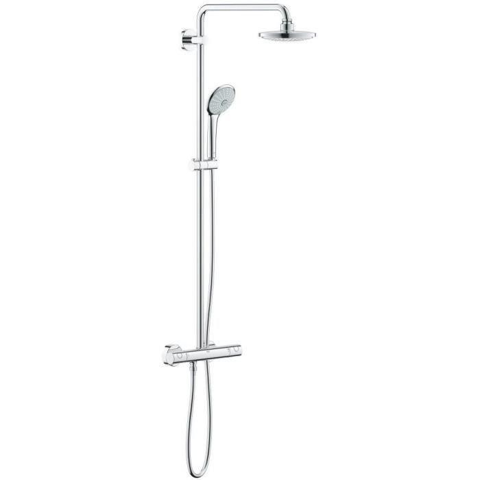 Solde colonne de douche colonne de douche au sol acier chrom avec mitigeur colonne de douche Solde colonne de douche