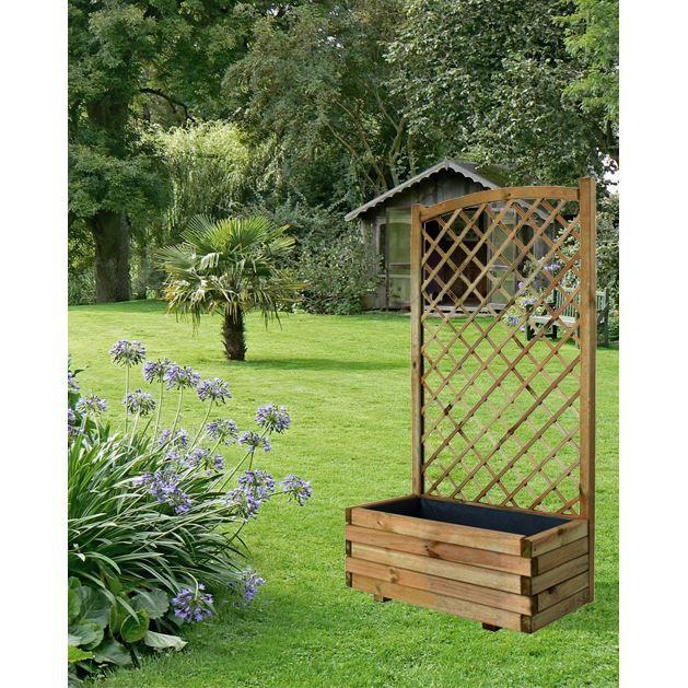 bac fleurs avec treillis arc lierre 80 achat vente jardini re pot fleur bac fleurs. Black Bedroom Furniture Sets. Home Design Ideas