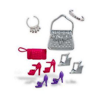 barbie chaussures et accessoires argent achat vente accessoire poup e cdiscount. Black Bedroom Furniture Sets. Home Design Ideas