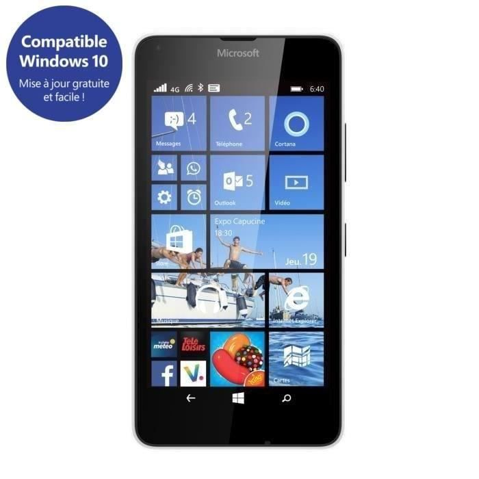 nokia lumia 640 4g blanc achat smartphone pas cher avis. Black Bedroom Furniture Sets. Home Design Ideas