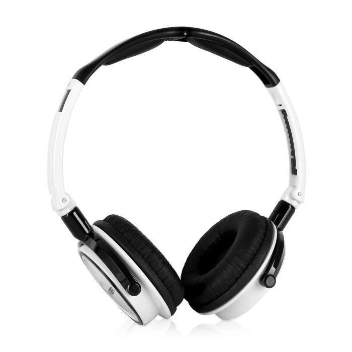 oneconcept street dj casque audio avec micro blanc et noir achat vente casque couteur. Black Bedroom Furniture Sets. Home Design Ideas