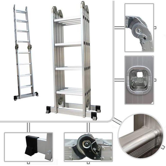chelle multifonction pliable pro chelle aluminium hauteur max m tres avec ses grandes. Black Bedroom Furniture Sets. Home Design Ideas
