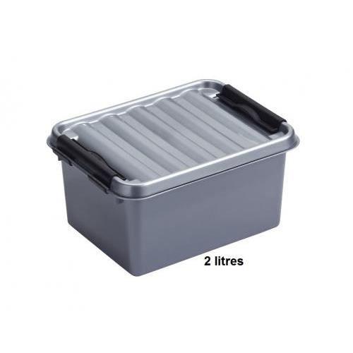 boite plastique opaque avec couvercle 2 litres achat vente boites de conservation boite. Black Bedroom Furniture Sets. Home Design Ideas