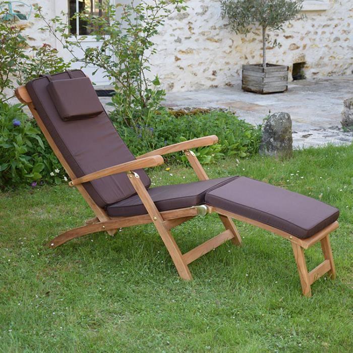 Matelas chocolat pour chaise longue achat vente for Chaise longue pour 2 personnes