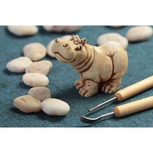 Figurine hippopotame petite statuette fait main d co for Objet decoration hippopotame