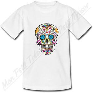 T-SHIRT T-Shirt Tete de Mort Sud América...