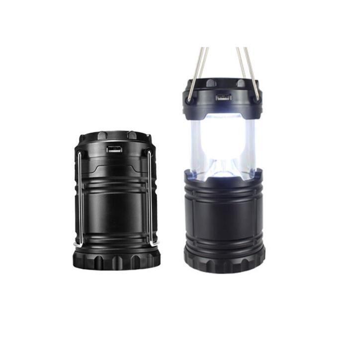 3w led solaire lampe de camping en camping rechargeable ext rieure urgence t lescopique portable. Black Bedroom Furniture Sets. Home Design Ideas