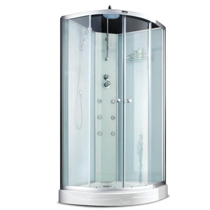 Cabine de douche d angle en verre 90x90x230cm achat vente cabine de douch - Cdiscount cabine de douche ...