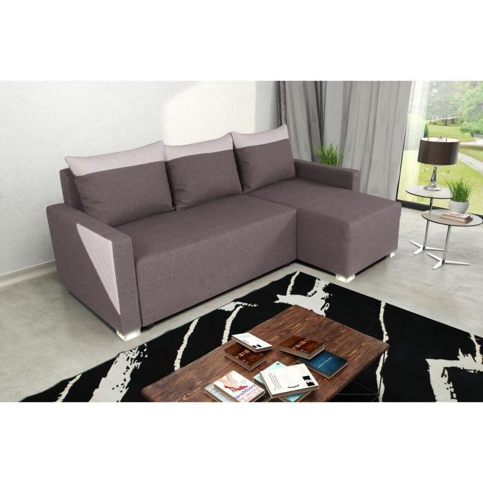 Canap d 39 angle montois gris blanc achat vente canap sofa divan - Cdiscount soldes canape ...