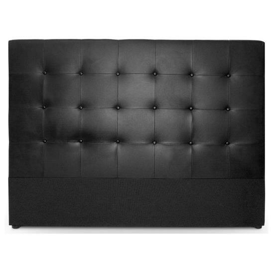 T te de lit lixor 160 cm noir capitonnage chic achat vente structure - Tete de lit noir 160 ...