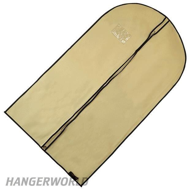 lot de 3 housses protection costumes respirantes avec fermeture 233 clair 104cm hangerworld