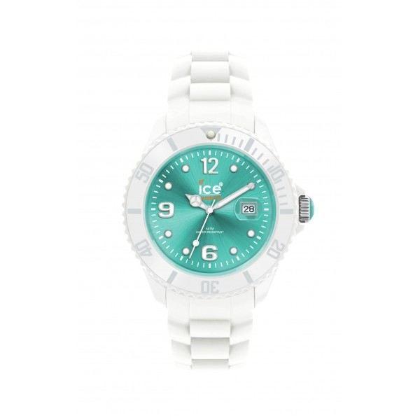 Montre ice watch big turquoise et blanche bleu blanc - Montre ice watch bleu turquoise ...