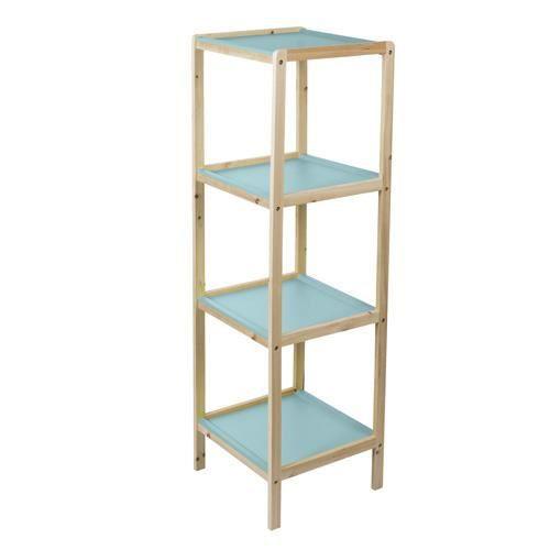 Etag re de salle de bain scandi 4 niveaux bleu achat - Etagere colonne salle de bain ...