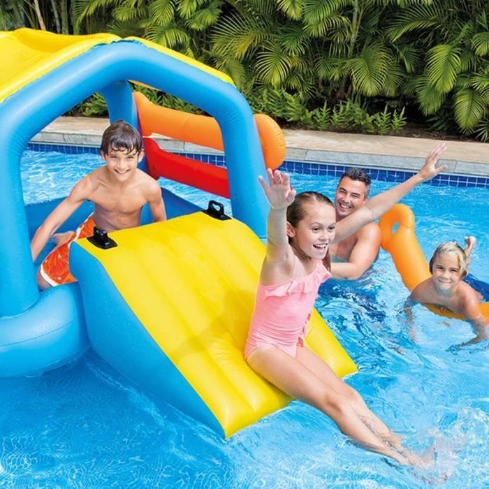 Intex ile toboggan jeux de piscine achat vente jeux for Jeu de piscine