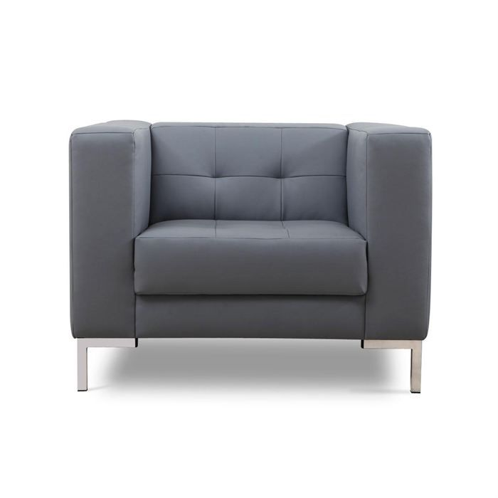 Fauteuil design gris lincoln achat vente fauteuil mati re de la structure - Fauteuil design discount ...