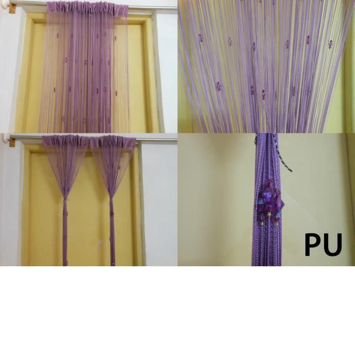 violet rideau fil voilage perles sparkle porte. Black Bedroom Furniture Sets. Home Design Ideas