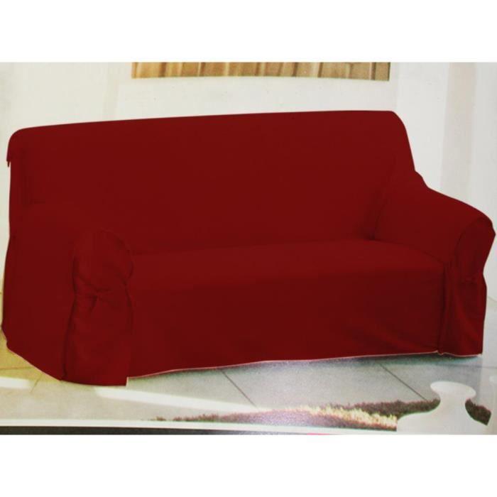 housse de canap rouge 205x270 cm achat vente housse de canap soldes d t cdiscount. Black Bedroom Furniture Sets. Home Design Ideas