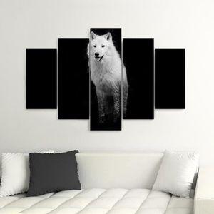 tableau loup achat vente tableau loup pas cher cdiscount. Black Bedroom Furniture Sets. Home Design Ideas