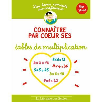 Conna tre par coeur ses tables de multiplication achat for Table de multiplication par 99