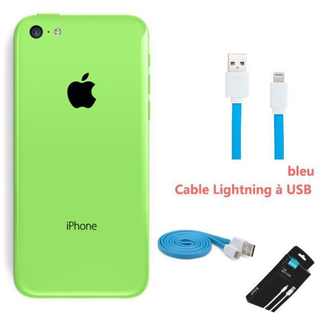 telephonie telephone mobile iphone c gb vert ihave cable plat apple mfi cer f  app