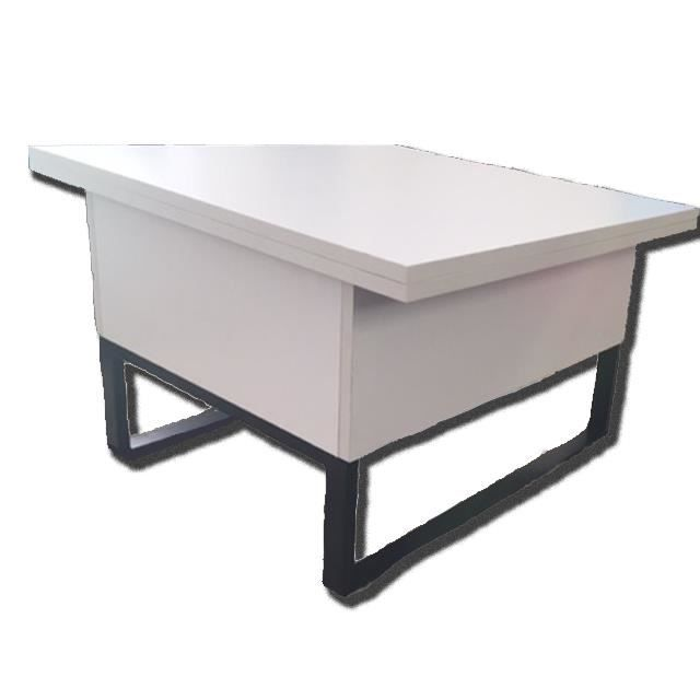 Table basse relevable allonges new viper blanc achat - Table basse relevable new york ...