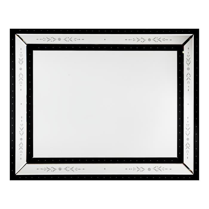 Miroir mur venitien 100x80cm achat vente miroir for Miroir mur