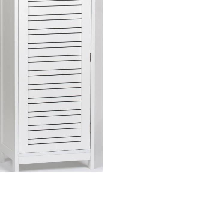 Meuble colonne de salle de bain en bois mdf blanc achat vente colonne armoire sdb meuble for Colonne salle de bain bois