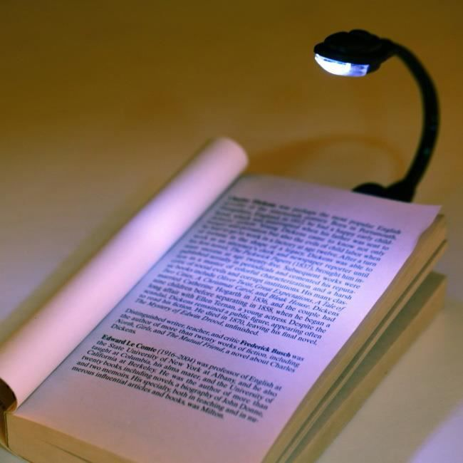 mini lampe lecture liseuse livre led avec batterie achat vente mini lampe lecture liseuse. Black Bedroom Furniture Sets. Home Design Ideas
