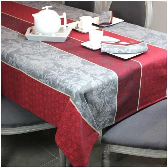 nappe grise et rouge table de cuisine. Black Bedroom Furniture Sets. Home Design Ideas