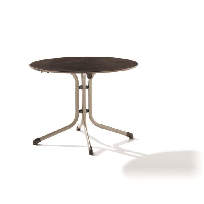 table ronde puroplan pied tube en acier achat vente. Black Bedroom Furniture Sets. Home Design Ideas