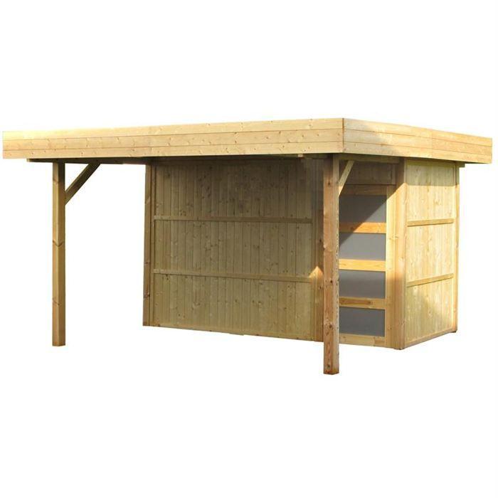 Poolhouse en bois 19 mm 11 73 m achat vente abri jardin chalet poolhouse bois 19 mm - Abri de jardin pool house ...